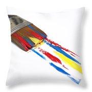 Paintbrush Throw Pillow by Bernard Jaubert