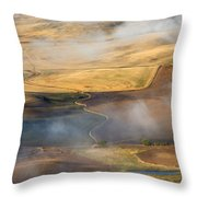Patterns Of The Land Throw Pillow by Mike  Dawson