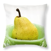 Pear Still Life Throw Pillow by Edward Fielding