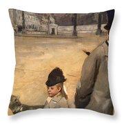 Place De La Concorde Throw Pillow by Edgar Degas