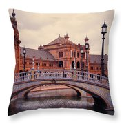 Plaza De Espana. Seville Throw Pillow by Jenny Rainbow