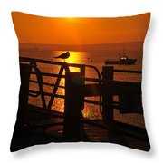 Plymouth Harbor Sunrise Throw Pillow by Catherine Reusch  Daley