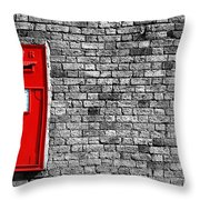 Post Box Throw Pillow by Mark Rogan