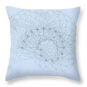 Quantum Nautilus Throw Pillow by Jason Padgett