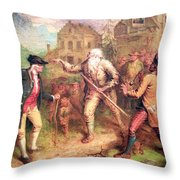 Quidor's The Return Of Rip Van Winkle Throw Pillow by Cora Wandel