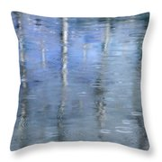 Raindrops On Reflections Throw Pillow by KM Corcoran