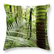 Rainforest  Throw Pillow by Les Cunliffe