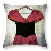 Red Dress Throw Pillow by Joana Kruse