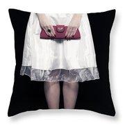 Red Handbag Throw Pillow by Joana Kruse