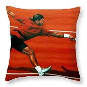 Roger Federer Throw Pillow by Paul  Meijering