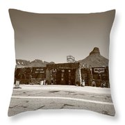 Route 66 - Cool Springs Camp Throw Pillow by Frank Romeo