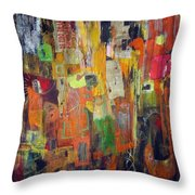 Route 69 Throw Pillow by Katie Black