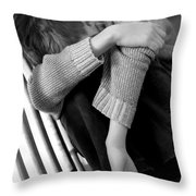 Sadness Throw Pillow by Michal Bednarek