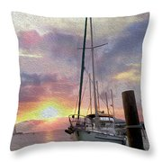 Sailboat Throw Pillow by Jon Neidert