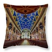 Saint Michael Church Throw Pillow by Susan Candelario