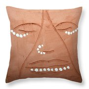 Samuel - Tile Throw Pillow by Gloria Ssali