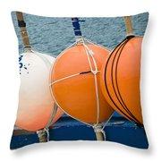 Seaside Colors Throw Pillow by Frank Tschakert