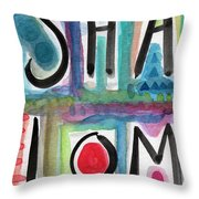 Shalom Throw Pillow by Linda Woods