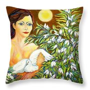 SHINE Throw Pillow by Gunter  Hortz