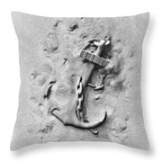 Ship's Anchor Throw Pillow by Tom Mc Nemar