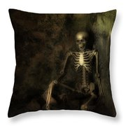 Skeleton Throw Pillow by Amanda And Christopher Elwell