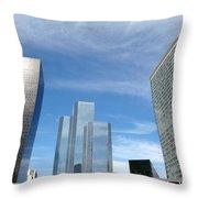 Skyscrapers Throw Pillow by Michal Bednarek