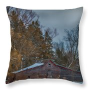 Small Barn Throw Pillow by Paul Freidlund