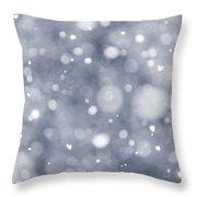 Snowfall  Throw Pillow by Elena Elisseeva