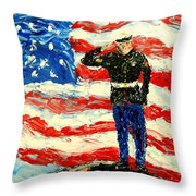 So Proudly They Hailed Throw Pillow by Mark Moore