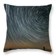 Star Trails 1 Throw Pillow by Benjamin Reed