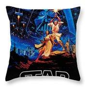Star Wars Throw Pillow by Farhad Tamim