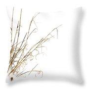 Stems In Snow Throw Pillow by Bernard Jaubert