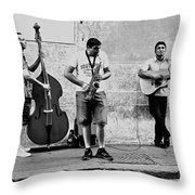 Street Musicians Of Rome Throw Pillow by Mountain Dreams