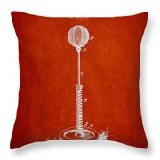 Striking Bag Patent Drawing From1894 Throw Pillow by Aged Pixel