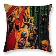 Subway Throw Pillow by Rob Hans