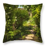 Summer Garden And Path Throw Pillow by Elena Elisseeva