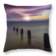 Sunset Beach Throw Pillow by Ian Mitchell