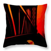 Sunset Throw Pillow by Jack Zulli