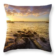 Sunset Light Throw Pillow by Debra and Dave Vanderlaan
