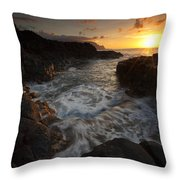Sunset Pool Throw Pillow by Mike  Dawson