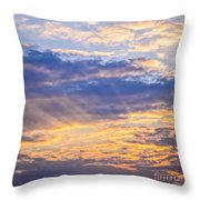 Sunset Sky Throw Pillow by Elena Elisseeva