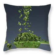 1 Tablespoon Chives Throw Pillow by Steve Gadomski
