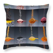 1 Tablespoon Flavor Collage Throw Pillow by Steve Gadomski