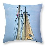 Tall Ship Harvey Gamage Throw Pillow by Skip Willits