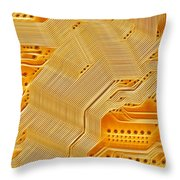 Technology Abstract Background Throw Pillow by Michal Boubin