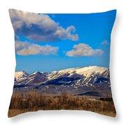 The Butte Throw Pillow by Robert Bales