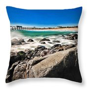 The Jersey Shore Throw Pillow by Paul Ward