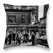 The Market At Pike Place Throw Pillow by David Patterson