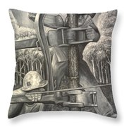 The Roughneck Throw Pillow by Shawn Marlow