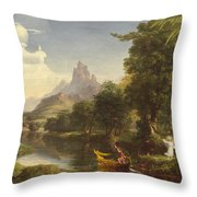The Voyage Of Life Youth Throw Pillow by Thomas Cole